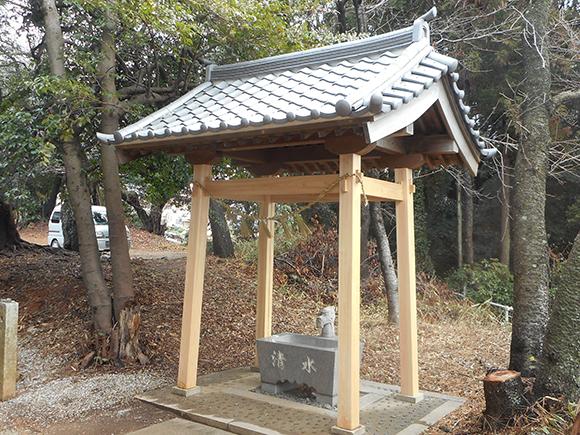 本宮神社様 手水舎工事