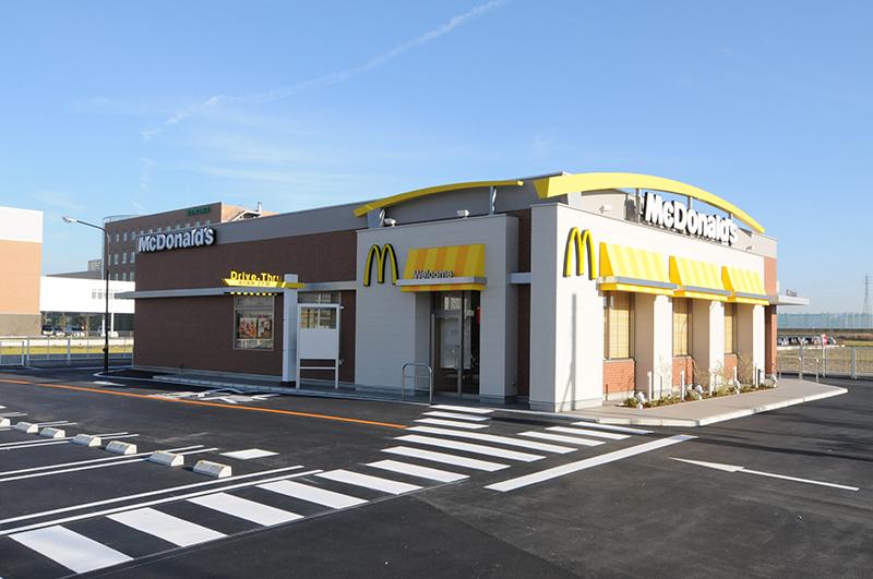 日本マクドナルド1号線小坂井店新築工事