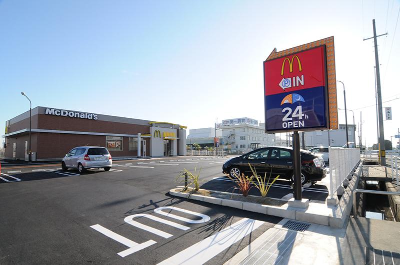 日本マクドナルド1号線小坂井店新築工事イメージ4